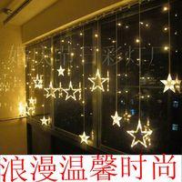decoration store decoration window wedding room decoration 2.5 meters wide Star Light Festival Lights LED lights string