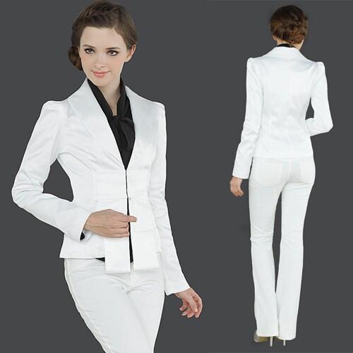 White Elegant Business Women Jacket Aliexpress Mobile Global Online Ping For Arel Phones
