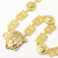 9.13 NKG062 2014 NEW Cool ,24K Real Gold Plating, 2 COLOR Men's Hip Hop Medusa Copper Pendant & Necklace, man men Jewelry