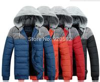 2014 new winter fashion leisure men's Korean hooded warm thickening short paragraph cotton jacket free shipping