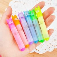 12set Ninja Rabbit Mini 6 color Highlight Pen, Cute Cartoon Mini Aminal Pen Free Shipping