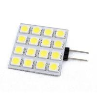 Led G4 Square Panel Lamp 16 Chips 5050 SMD DC 12V White/Warm White Led Lamp