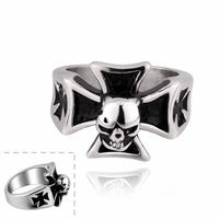 Cross Men cool Ring Best Quality Stainless Steel #7 #8 #9 with nice gift box  R011 Vintage Jewelry Wholesale