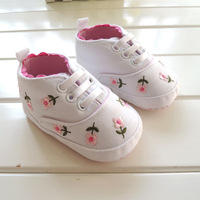 0-1 years old, Japanese, pastoral cute, pink floral, baby shoes, non-slip toddler shoes, soft- soled shoes, four shoes