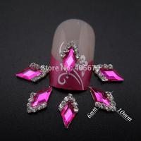 MNS613  Glitter rhinestones 3d alloy nail studs strass nail art jewelry 50pcs