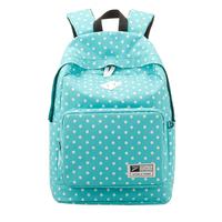 FreeShip School Bag for Teenage Girls 2014 Fashion Mochilas Girls Femininas Female Canvas Polka Dot Backpacks Double Shoulder