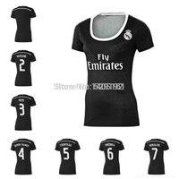 Hight Product Thailand Women 14/15 Bale James Benzema Kroos Ronaldo Black 14-15 Soccer Jersey 2014-2015 Third Shirt Away Jersey