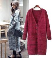 Best Sellers. New winter show thin loose big yards long cardigan sweater coat tide dress