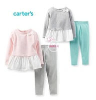 Retail,Carters Original Baby Girls 1-Piece Peplum Top  ,Baby Girls Lovely Clothing Set Free Shipping IN STOCK