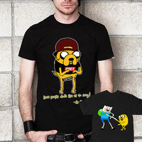 2014 Funny Harajuku Sitcoms Adventure Time Shirt Men Jack Basic T Shirt BMO Who Wants To Play Video Games T-Shirt Mens Clothing