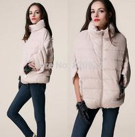 Europe station 2014 winter new down jacket women short paragraph bat sleeve big yards short sleeve jacket