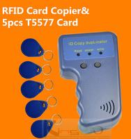 Handheld 125Khz RFID Copier Writer / Duplicator ID Card Copier +5pcs 5577 tags  free shipping
