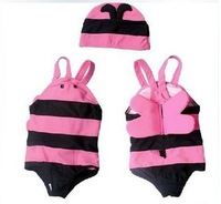 Beautiful Babies Swim Wear Pink Color Girls Hot Spring Bathing suit Lovely Baby Suitable Swimwear BeachWear