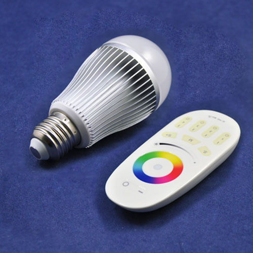 10sets/lot AC86-264V E27/E26/B22 Lamp base 9W 800-850LM RGBW Color Changing Dimmable LED Bubble Ball Bulb With 2.4G RemoteKingne(China (Mainland))