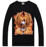 4M318 2014 Brand 100% Cotton Fashion Man T-shirt Union-Jack  Fitness T shirts Men Long Sleeve Casual Blusas Masculinas Camisetas