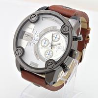 2014 DZ fashion calendar watches, men's stainless steel military movement, quartz watch observe Relogio Hotel