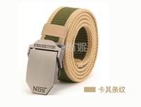 Long thick canvas belt men belt jeans casual canvas belt NOS wild simple fashion tide khaki stripes military belt