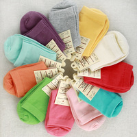 10 pairs/lot 2014 special candy color muji female socks your lowest price for the spring and autumn winter cotton socks