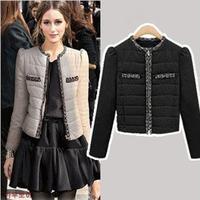 2014 New Fashion High Quality Korean Style Women Slim Short Jackets Down Coat Vintage Aristocratic wind Thin Warm Jacket YYJ511