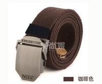 Long thick canvas belt men belt jeans casual canvas belt NOS wild brown military belt simple fashion tide
