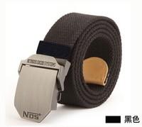 Long thick canvas belt men belt canvas belt jeans leisure wild NOS Fashionable simple black free shipping