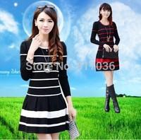 2014 Women's New autumn winter quality goods sweater Han edition loose big yards wool dress render unlined upper garment