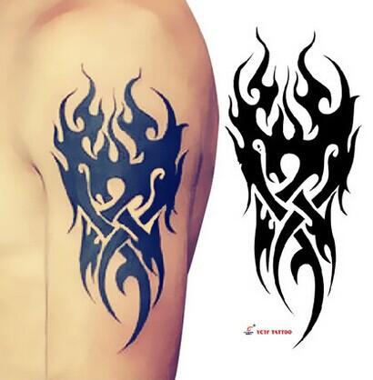 TS - 52 misterioso braço tribal tatuagem temporária arte da pele stickeer da Semana de Moda Antiga(China (Mainland))