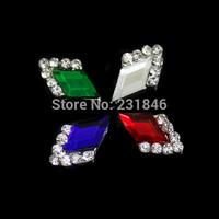 30pcs/lot Nail Art 3D Alloy Metal Crystal Decoration Diamond Cellphone Rhinestone Glitter Charms Jewelry Manicure DIY Tips Salon