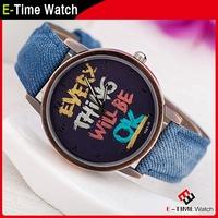 New Casual Women Dress Watch Unisex Leather Strap Women Sport Watches Letters Cartoon Fashion Wristwatch QZ4386