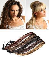 Fashion Women Girl Synthetic Hair Plaited Headband Bohemian Style Hair Band Hots 2014 New free shipping