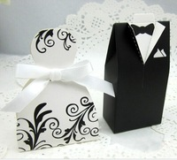 Hot Sale Bride and Groom Box 100pcs Wedding Favor Boxes Gift box Candy box Decoration Supplies