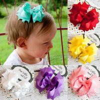 "10pcs/lot  4"" hair bows stacked bows boutique bows mix"