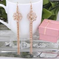 High Quality Gold / Silver Plated Crystal Rhinestone Wedding Bridal Earrings Classic Flower Shape Wholedale Jelwery Earrings