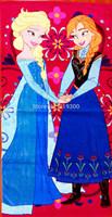 150*75cm Christmas Frozen Towels Elsa Anna Soft Children Shower Towels Beach Bathing Towels 2014 Hot Sales F130