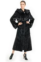 2014 Genuine Natural Shear Mink Fur Coat Jacket with hoody Winter Women Fur Outerwear Parka Lady Overcoat QD70729