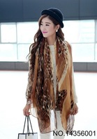Wholesale  Big  Size Polyester Leopard Printed Shawl