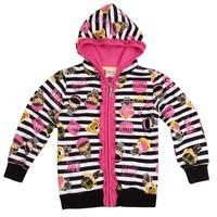 NOVA kids wear coat girls printed super kawaii girls striped zip-up girls jacket hoodies brand F3425
