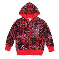 Baby Girls Pinted beautiful cartoon character baby girls spring autumn new hoody jacket F3472