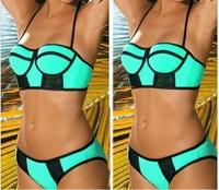 new 2014 summer high waist biquini female swimwear vintage push up bikinis set biquinis women bikini brazilian