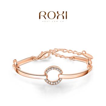 Roxi мода новых мужчин браслеты, позолоченные, австрийский хрусталь, святого валентина ...
