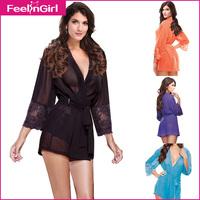 4 Colors Sexy Women Long Lingerie Hot Sale Long Langerie Babydoll Sexy Lace Underwear Pajamas For Women Long Sleeve Sleepwear 10