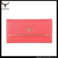 Women wallet Candy color PU women's purse long wallets multi card position solid women purse HS04 free shipping