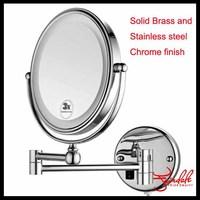 9 Inch Double Side Modern Bath Mirrors Shave Makeup mirror Extend Arm 3x Magnifying Espelho Do Banheiro Bathroom mirrors