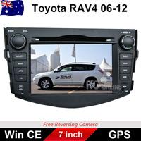7.0 inch Car DVD GPS Stereo Player Head Unit For TOYOTA RAV4 2006 - 2012 SIRF ARM 11 CPU Bluetooth USB IPOD RADIO DVD AUX GPS