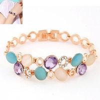 Min.Order $8.8(Mix Order) Europe America Fashion Women Bracelet Shining Cat Eye Stone Cuff Bracelet Bangles FB0020