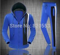spring autumn new fashion men's leisure sports suit tracksuit coat sportswear jacket jogging sweatshirts sets