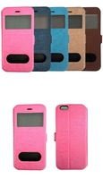 """Dual Window S View Flip Case Full Body Cover Case for iPhone 6 4.7"""" 10pcs with Tracking Number"""