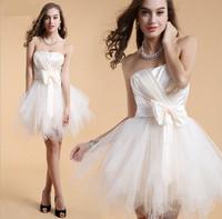 Hot Sale  Bridesmaid Costume Ladies Tulle Dress  Women Evening Dress Strapeless Beautiful Evening Dress Romantic