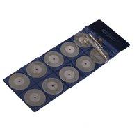 Ecoolbuy 10PCS 35mm Diamond Coated Rotary Cutting Cut Off Blade Wheel