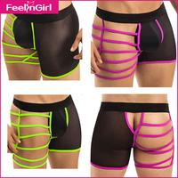 Wholesale Fashion 2015 Mens Satin Panties Short Hot Sale Sexy Modal and Gay Short Shorts Men's Underwear Satin Boxers 10